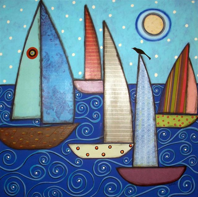 Folk Art Boat Paintings
