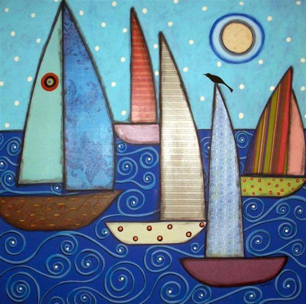 5Sailboats&ABird